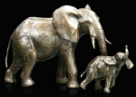 Bronze Elephant Cow & Calf Medium Limited Edition