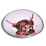 Meg Hawkins Highland Cow Oval Bowl Small 16cm