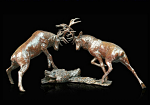 Bronze Stags Rutting - To the Winner the Spoils - Limited Edition