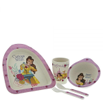 Disney Beauty & The Beast Belle Organic Bamboo Dinner Set