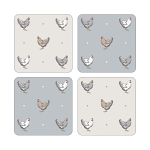 Cooksmart - Farmers Kitchen Coasters - Set of 4