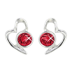 Lila Jewellery Heart Studs - January