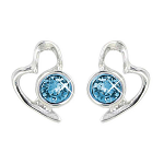 Lila Jewellery Heart Studs - March