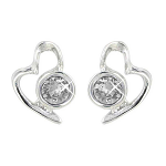 Lila Jewellery Heart Studs - April