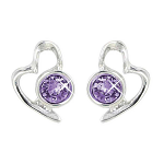 Lila Jewellery Heart Studs - June