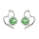 Lila Jewellery Heart Studs - August
