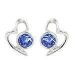 Lila Jewellery Heart Studs - September