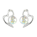 Lila Jewellery Heart Studs - October