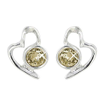 Lila Jewellery Heart Studs - November