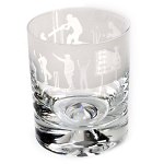 Animo Glass - Cricket Scene Whisky Tumbler