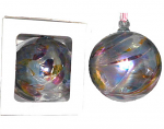 Amelia Birthstone Glass Friendship Ball - March in Multicolour