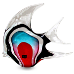 Svaja Paperweight Annie Angel Fish Large