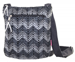 Messenger Bag - Grey Chevron