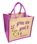 Jute Shopping Bag - Grans are Great
