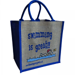 Jute Shopping Bag - Swimming is Great