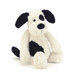 Jellycat Bashful Black & Cream Puppy Medium 31cm