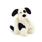 Jellycat Bashful Black & Cream Puppy Small 18cm
