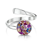 Shrieking Violet Purple Haze Ring - Adjustable - Round