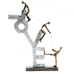 Bentley & Bo - Bronze Coloured Figures Building the Word LOVE