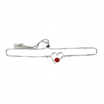 Lila Jewellery Birthstone Heart Slider Bracelet - January