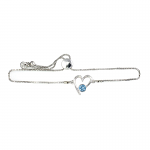 Lila Jewellery Birthstone Heart Slider Bracelet - March