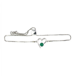 Lila Jewellery Birthstone Heart Slider Bracelet - May