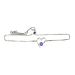 Lila Jewellery Birthstone Heart Slider Bracelet - September