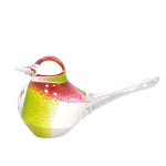 Svaja Paperweight Basil Bird White & Lime & Cherry