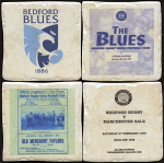 Bedford Blues Rugby Club Vintage Coasters
