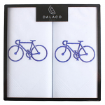 Men's White Handkerchiefs - Bicycle - Twin Pack