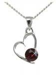 Birthstone Heart Pendant July Ruby