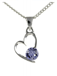Birthstone Heart Pendant June Moonstone