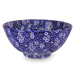 Burleigh Blue Calico Large Footed Bowl 28cm 11in