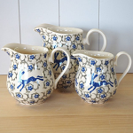 Peregrine Pottery - Blue Hare Jug Large 700ml or 1.25 Pint