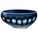 Poole Pottery Blue Orchid Asymmetrical Bowl