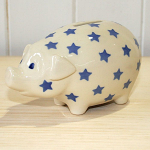 Peregrine Pottery - Twinkle Blue Piggy Bank