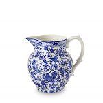 Burleigh Blue Regal Peacock Small Etruscan Jug