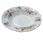 Duchess China - Fuchsia Rimmed Soup Cereal Bowl