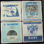 Bury Football Club Vintage Coasters