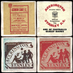 Accrington Stanley Football Club Vintage Coasters