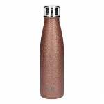 Built Double Walled Stainless Steel Water Bottle 17oz 500ml Rose Gold Glitter