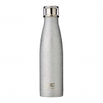 Built Double Walled Stainless Steel Water Bottle 17oz 500ml Silver Glitter