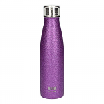 Built Double Walled Stainless Steel Water Bottle 17oz 500ml Purple Glitter