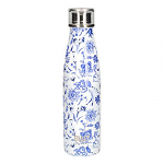 Built Double Walled Stainless Steel Water Bottle 17oz 500ml Blue Flora