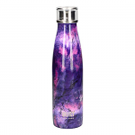 Built Double Walled Stainless Steel Water Bottle 17oz 500ml Purple Marble