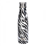 Built Double Walled Stainless Steel Water Bottle 17oz 500ml Zebra Print