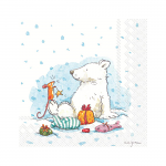 Anita Jeram - Napkins - Cocktail - Icy Christmas For You