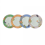 Aynsley Cottage Garden Plates Mixed Set of 4