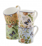 Aynsley Cottage Garden Windsor Mugs Set of 4