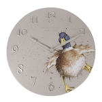 Wrendale Designs - Wall Clock 30cm - A Waddle and a Quack Duck Clock